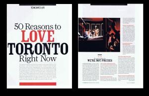 50 reasons to love toronto!