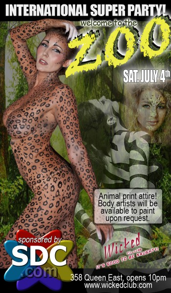 Welcome to the ZOO! International Super Party! @ Wicked Club | Toronto | Ontario | Canada