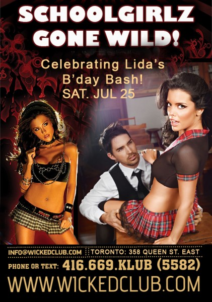 SchoolGirls Gone Wild celebrate Lida's B'day Bash! @ Wicked Club | Toronto | Ontario | Canada
