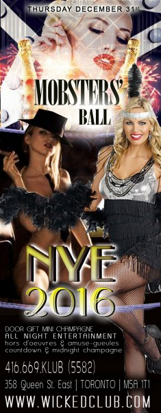 NEW YEARS EVE! Mobster's Ball! @ Tickets from $79 per couple | Toronto | Ontario | Canada