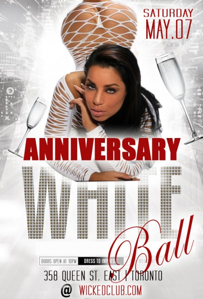 SATURDAY MAY 07 - ANNIVERSARY PARTY - WHITE BALL!