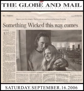 Globe and Mail Sept. 16, 2006 by Deirdre Kelly
